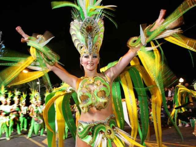 Karneval grön