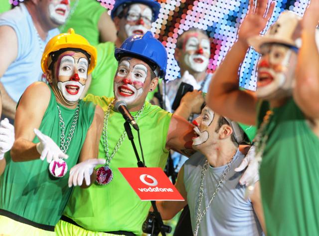 Karnevavl clowner