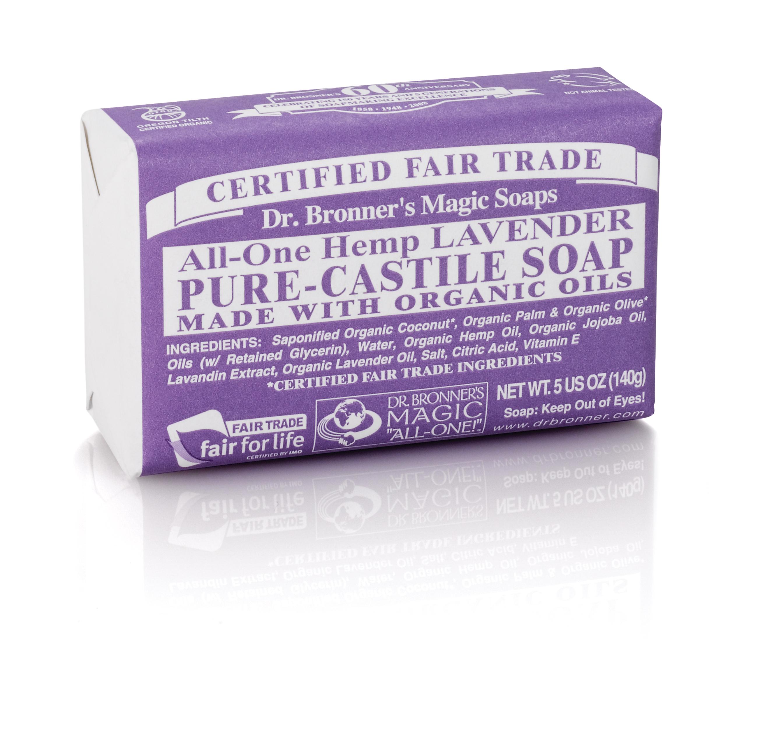 Dr Bronners Lavender Soap Bar 59sek
