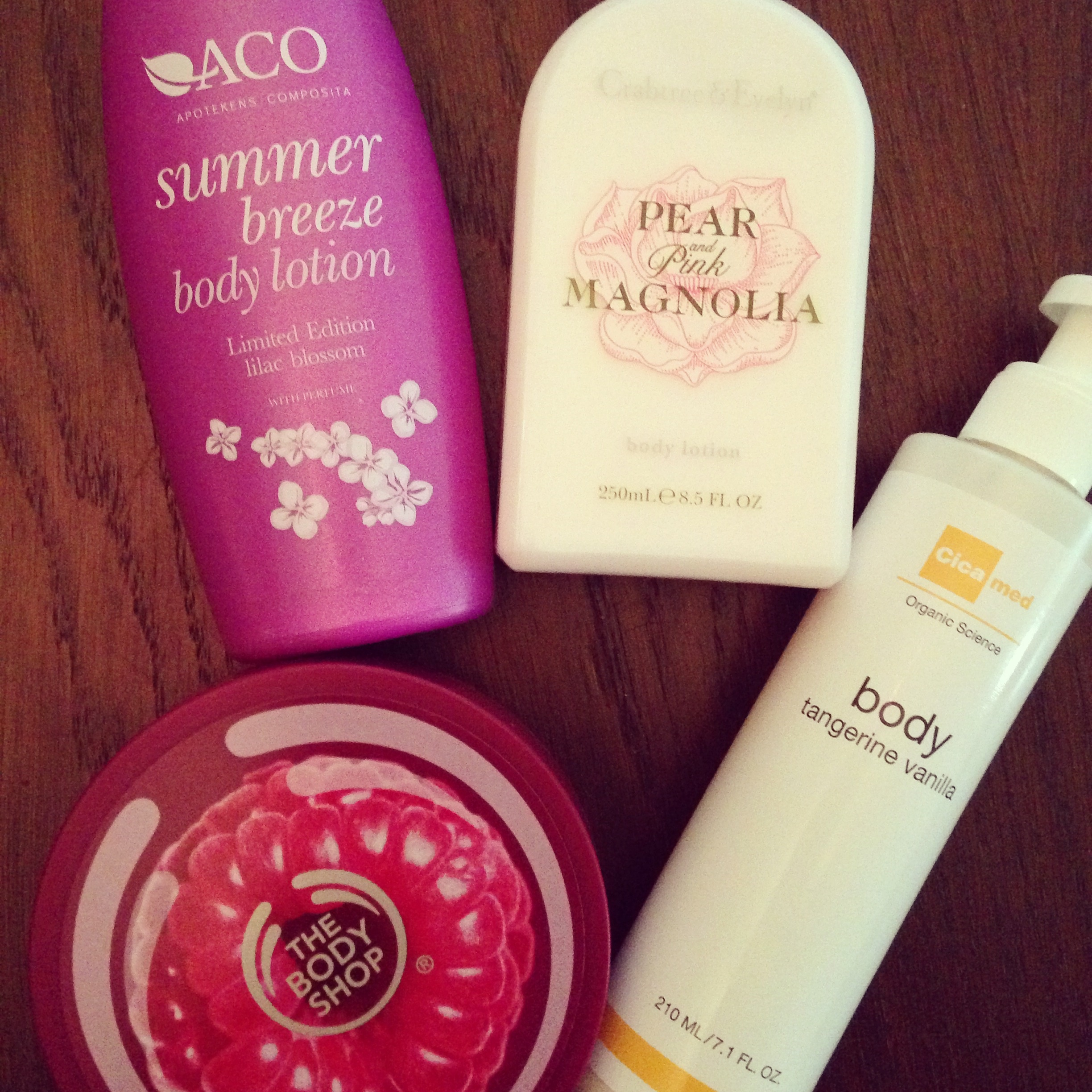Aco, Cicamed, Crabtree Evelyn, The Body Shop