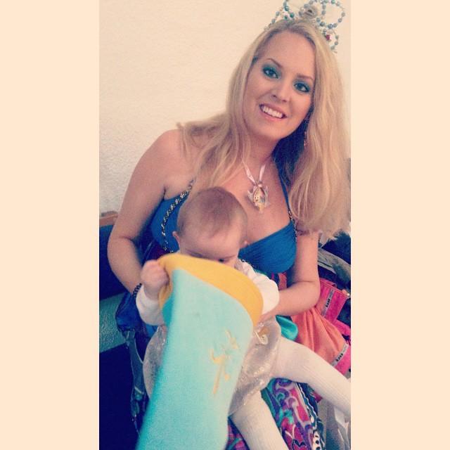 Elin Fagerberb som prinsessa