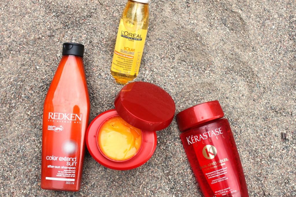 Solprodukter hår