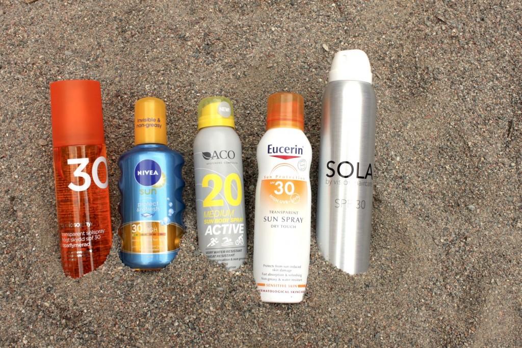 Solprodukter spray