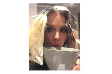 Beige blond hos frisören
