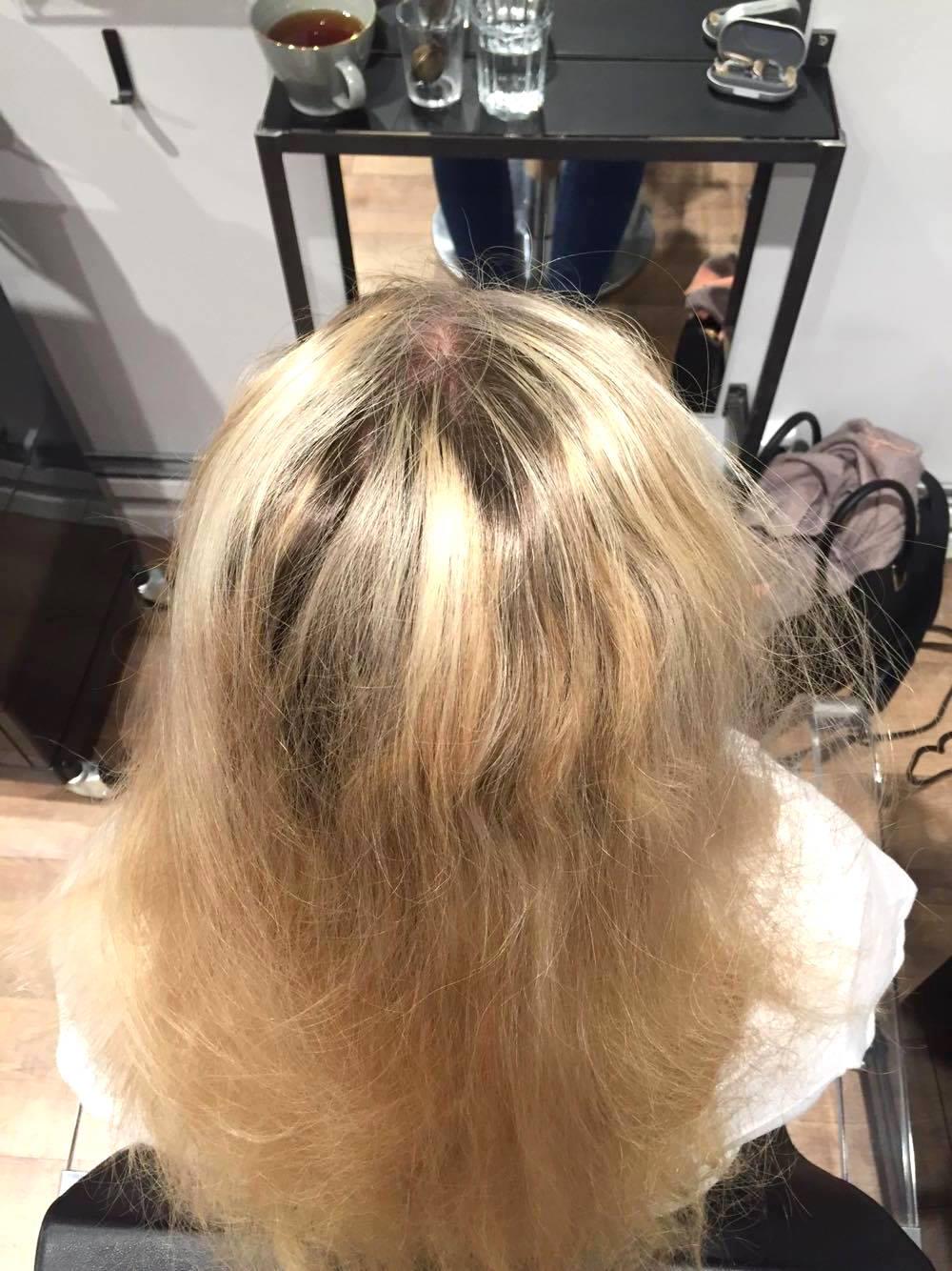 kall blond färg