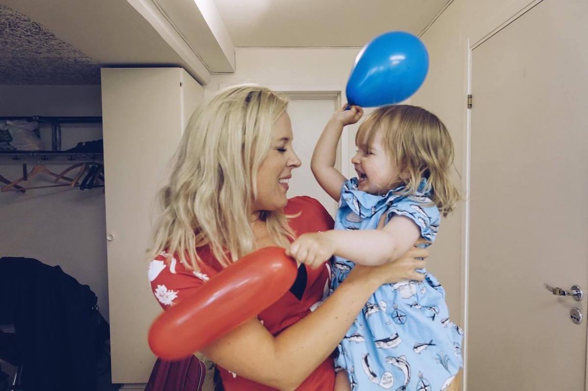 Matilda och Lilla M på 2-årskalas