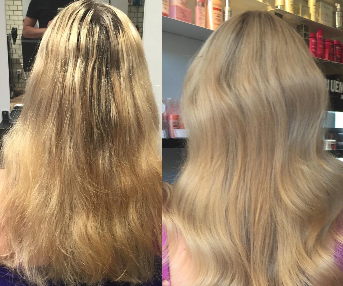 Ny hårfärg på Ellui elinfagerberg.se