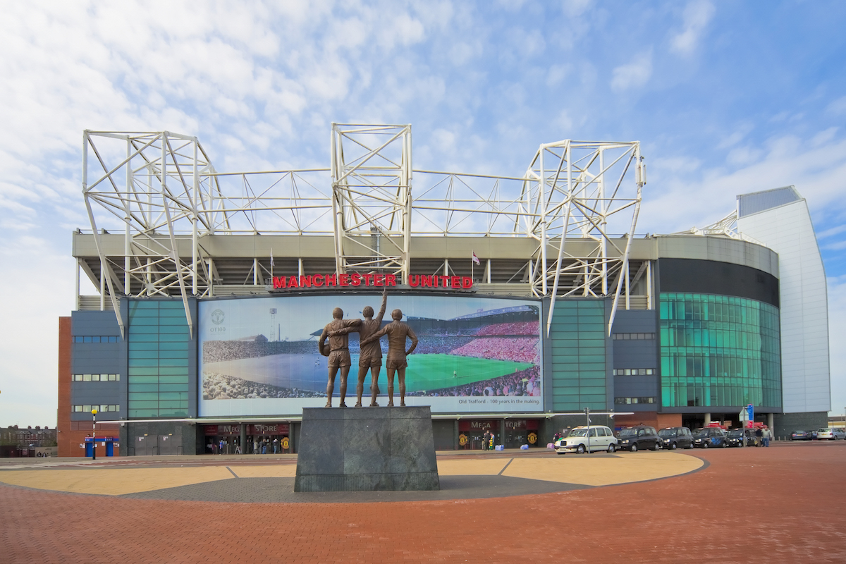 Old Trafford football stadium, Manchester, England