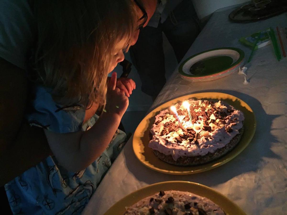 Sockerfri tårta 2-årskalas