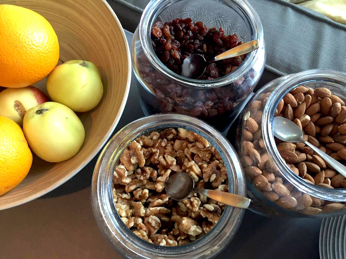 Skepparholmen spa frukt och nötter