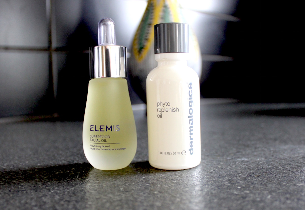 elemis Superfood Facial Oil och Dermalogica Phyto replenish oil