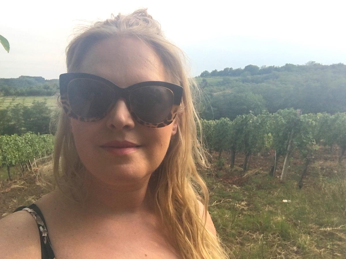 Jag besöker vingården Bacina