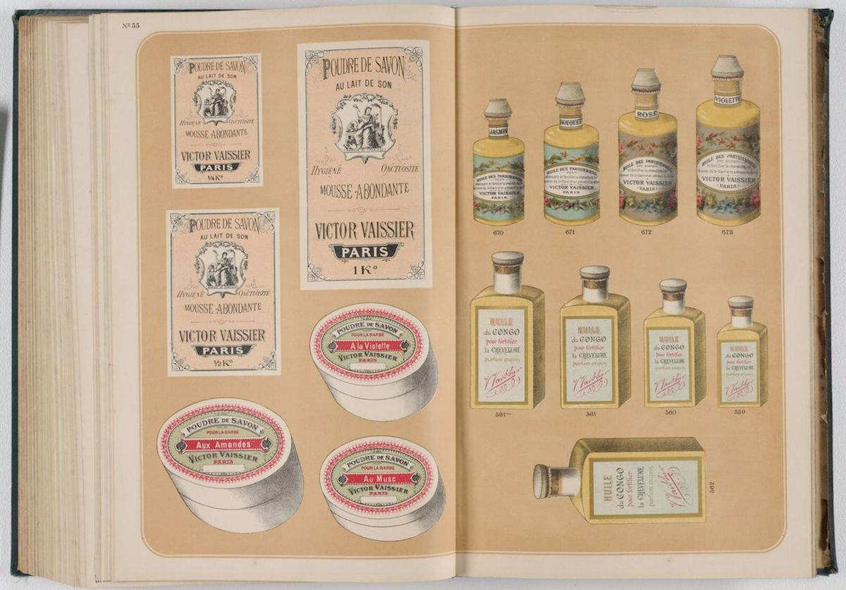 Victor Vaissier bok med gamla flaskor