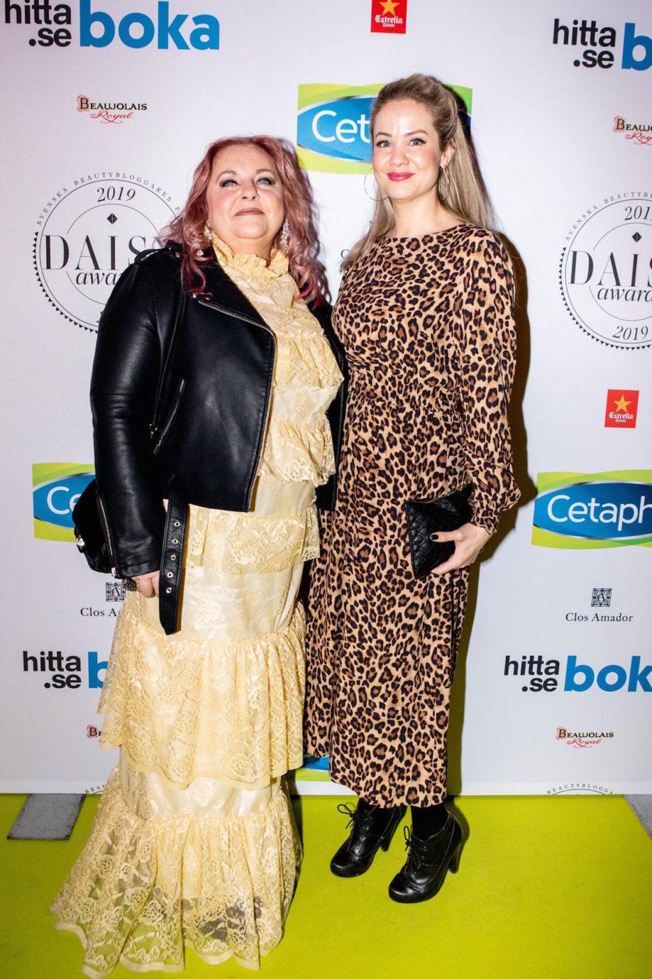 Annica och Nathalie från SHR besökte Daisy Beauty Awards på Cafe Opera