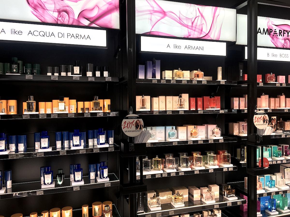 Sephora Biblioteksgatan har delat in doftkategorierna