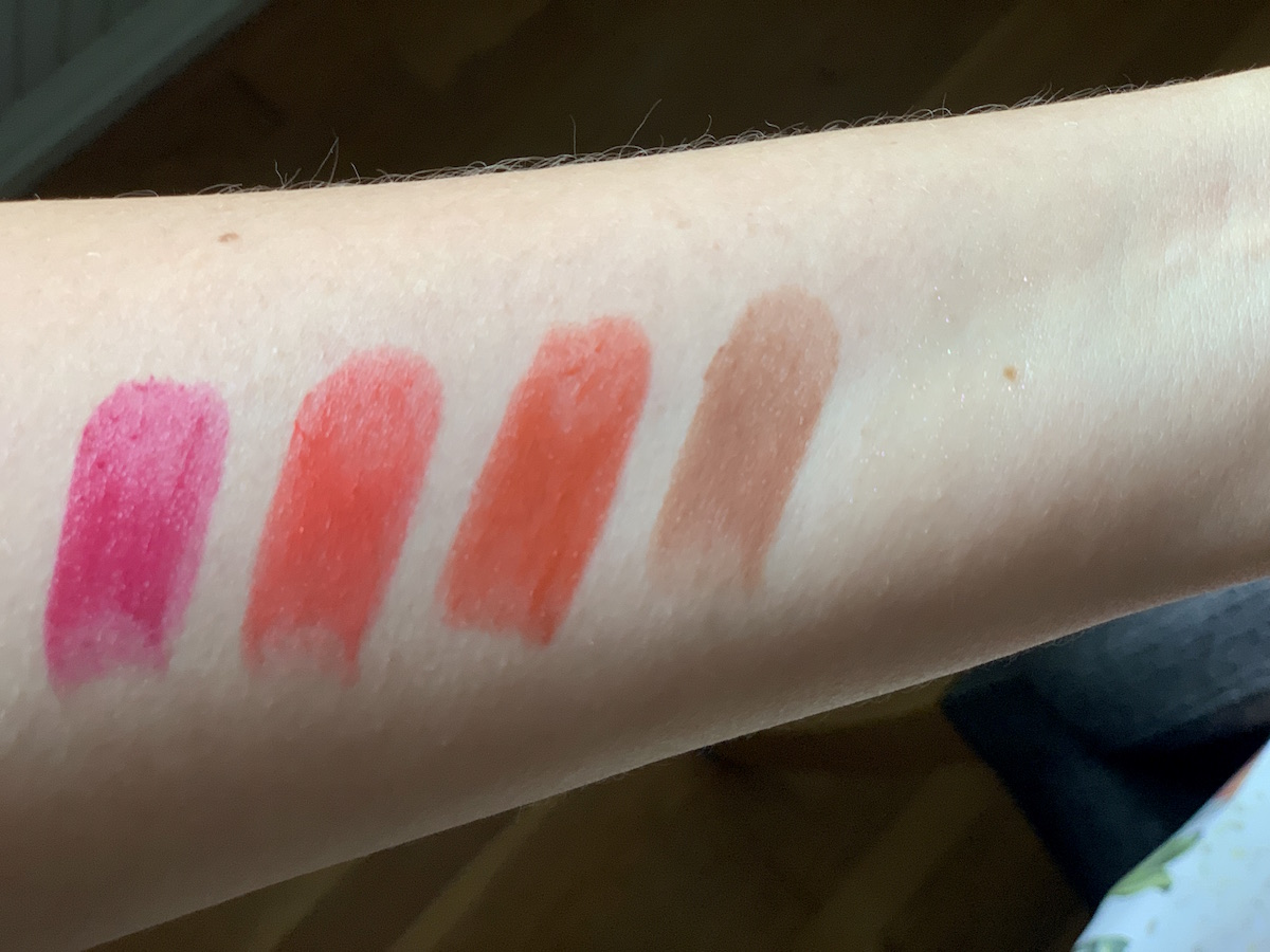 Fantastick Lipstick swatches
