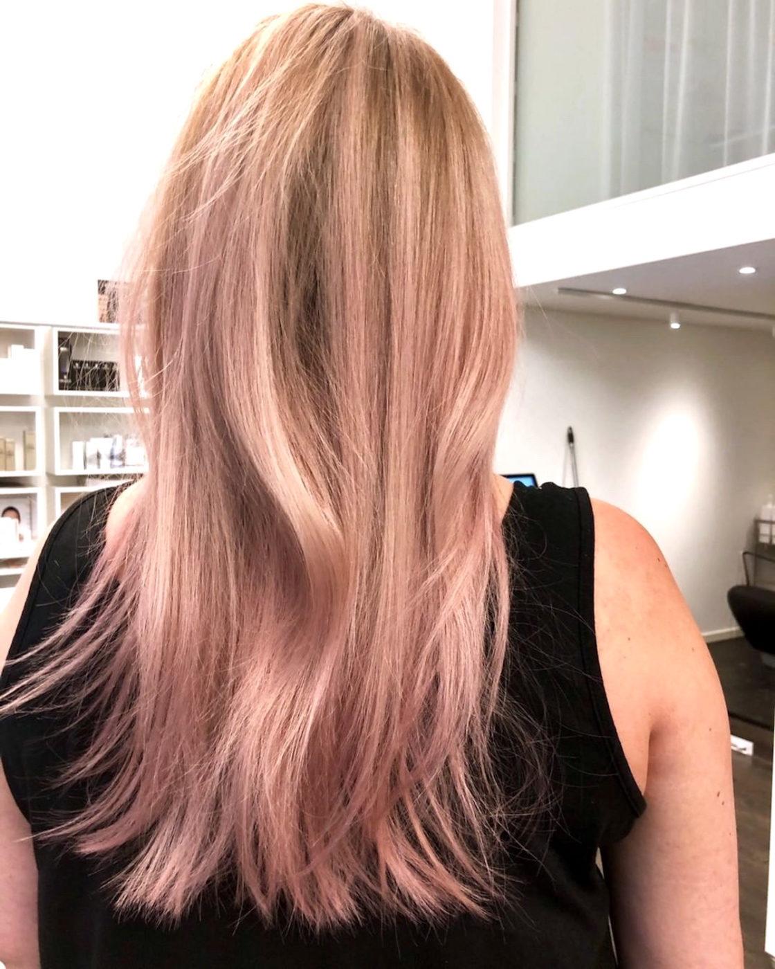 färga håret i rosalila