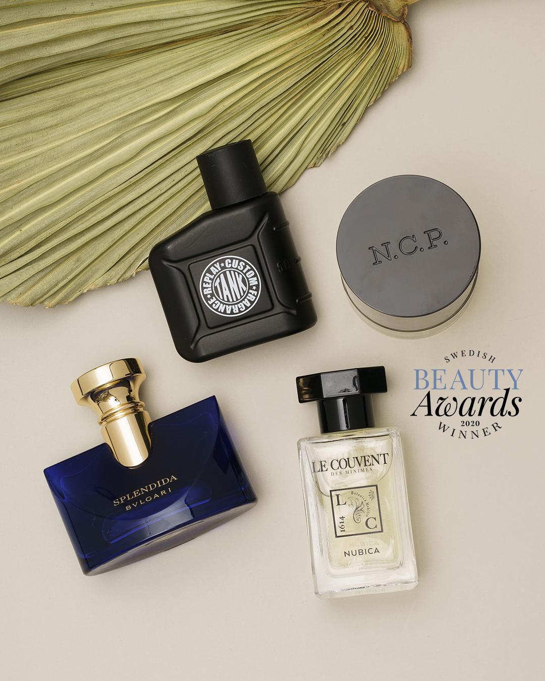 Swedish Beauty Awards 2020 alla de vinnande parfymerna