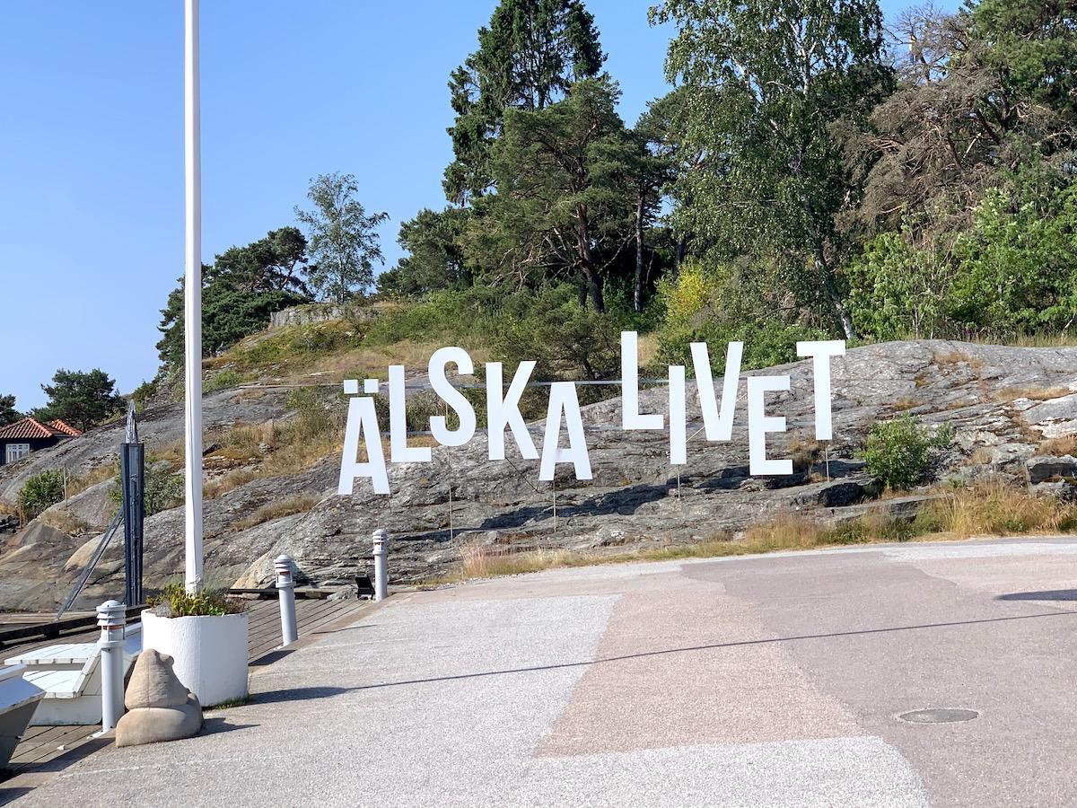 Älska livet - en fin slogan på stenungsbaden