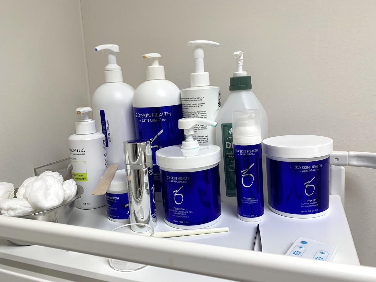 Bild på hudvårdsprodukter från Zo Skin