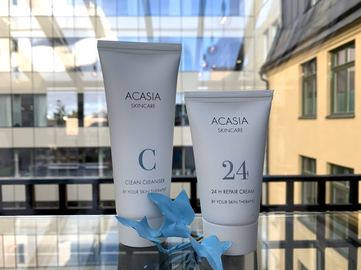Acasia Skincare rengöring och ansiktskräm