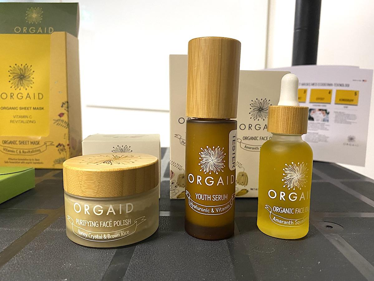 Tre hudvårdsprodukter från Orgaid