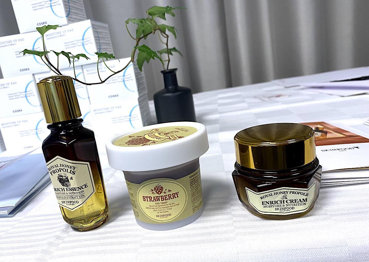 Tre hudvårdsprodukter från Skinfood
